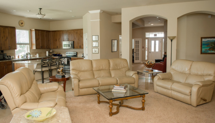 Living room at Castle Rock Assisted Living home